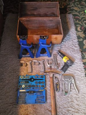 Vintage wood toolbox and tools for Sale in Georgetown, KY