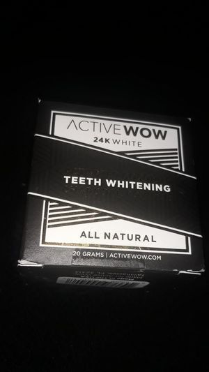 Active wow charcoal powder teeth whitener sealed for Sale in City of Industry, CA