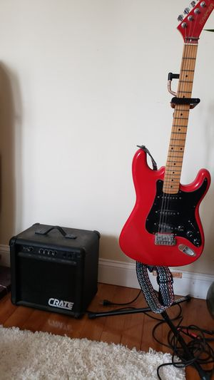 Kramer electric guitar, Crate amp, Ultra stand for Sale in Washington, DC