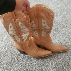 Nine West Leather Boots Size 10 for Sale in Lake Elsinore, CA