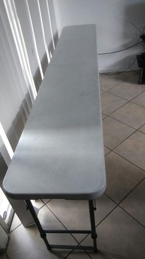 8ft long table adjustable sizes for Sale in Coral Springs, FL