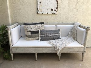 Vintage boho settee sofa bench for Sale in Cardiff, CA