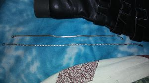 Silver diamond necklace and bracelet for Sale in Lubbock, TX