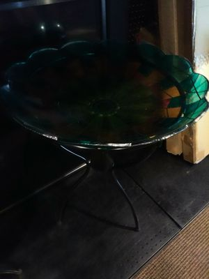 Glass fruit basket or bird bath for Sale in Modesto, CA
