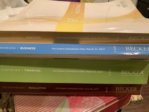 CPA study exam review books for Sale in Dallas, TX