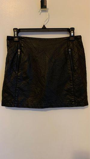 Black Leather Medium Skirt for Sale in Ashburn, VA