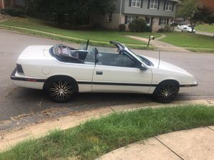 1989 Chrysler Lebaron Convertible for sale. New top, cruise control, A/C, new Catalytic Coverterasking price is $2,500 or Best Offer for Sale in Stafford, VA