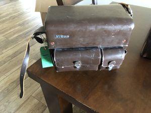 Vintage Nikon camera bag and three lenses for Sale in Phoenix, AZ