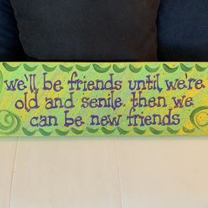 Hand Painted Wooden Sign - Funny Quote for Sale in Miami, FL