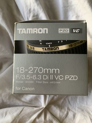 Tamron lens for Canon for Sale in El Cajon, CA