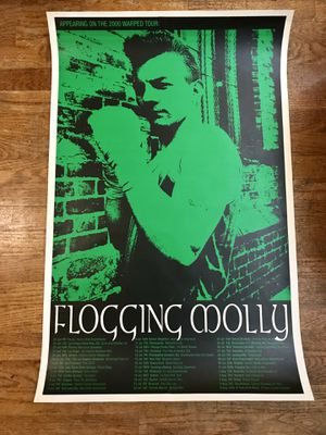 "Classic Rare Flogging Molly Tour Dates Print 35""x 23"" for Sale in Des Moines, WA"