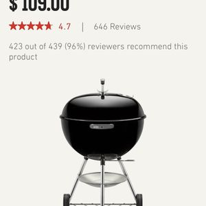 """New Weber 22"""" Original Kettle Charcoal Grill / BBQ for Sale in Azusa, CA"""