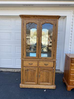 Oak Cabinet for Sale in Sleepy Hollow, IL