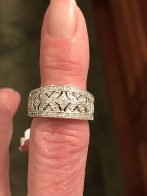 Silver and Diamond Ring for Sale in San Jose, CA