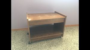 FREE! Small wooden printer table on wheels for Sale in Renton, WA