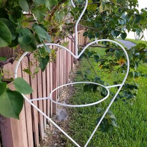 $40.00 - (2) Planters, Heartshaped/Iron/Multifunctional Or (1) For $25.00 - LOWEST PRICE, ITS 2FT TALL! for Sale in Miami, FL