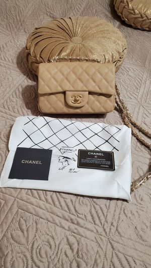 Mini leather chanel bag 20cm for Sale in Glendale, CA