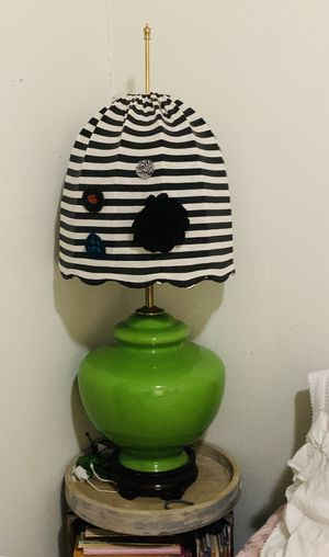 Norman Perry 1930-1940 circa /bohemian look-antique lamp -green color for Sale in Miami, FL