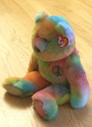 Toy collectible beanie baby buddy large rainbow peace bear plush doll 1999 for Sale in Walkersville, MD