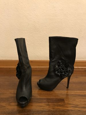 Black open toe heeled boots for Sale in Glendale, CA