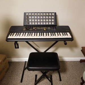 Keyboard with Stand & Chair for Sale in Cumming, GA