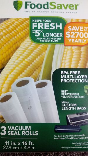 Food saver 3 vacuum seal rolls for Sale in Houston, TX