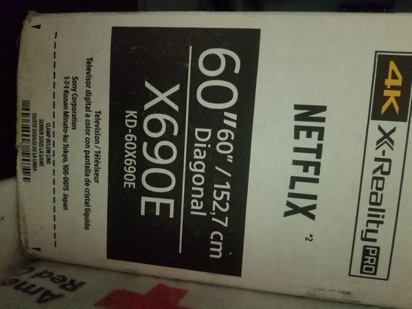 "60"" SONY BRAVIA X690E 4K, HDR, ULTRA HD TV"