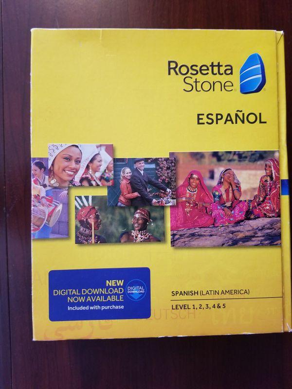 Rosetta Stone Spanish Levels 1-5