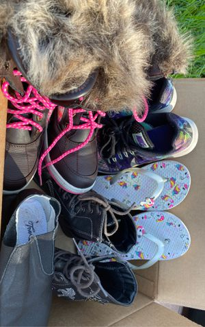 Lot of girls shoes w/ like new winter boots for Sale in Tampa, FL