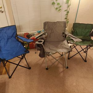 Camping Chairs ($12 For All) (Zip - 75254) for Sale in Dallas, TX