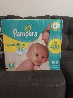 Pampers Swaddlers Newborn Diapers Size 1 for Sale in Philadelphia, PA