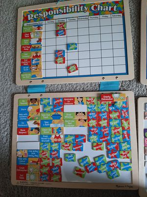 Melissa and doug calendar and responsibilities chart for Sale in Carol Stream, IL
