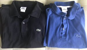 Bundle For MJ LACOSTE SMALL MEN's Short Sleeve POLO Two Shirts SIZE 4 Blue Black for Sale in Mableton, GA