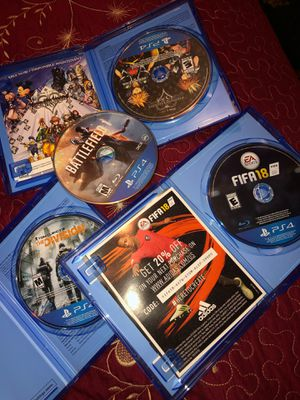 FIFA 18, The Division, Kingdom Hearts, and Battle Field One Included for Sale in Placentia, CA