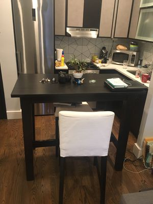 IKEA High top black kitchen table or home office desk for Sale in Brooklyn, NY