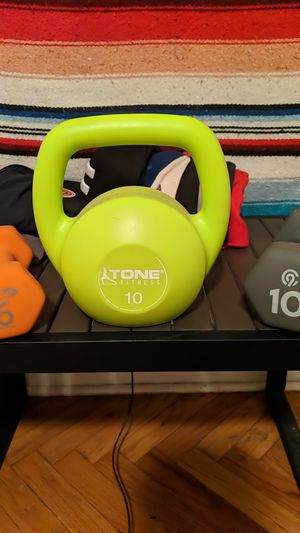 Kettle Bell & Two Dumbbells for Sale in The Bronx, NY