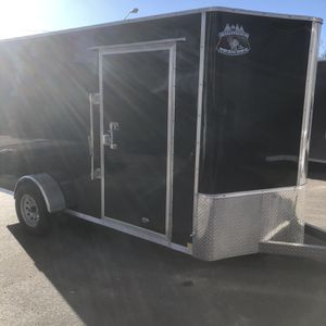 New Black 6x12+v-nose R&M Enclosed Cargo Trailer With Ramp for Sale in Wheat Ridge, CO