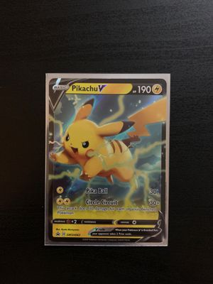 Sword And Shield Pikachu V Promo Card MINT for Sale in Richardson, TX