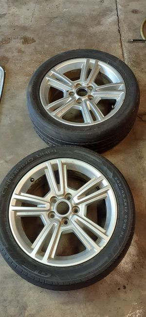 """2 mustang 5x114.3 wheels. 17"""" for Sale in Lisbon, CT"""