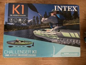 NEW Intex k1 challenger inflatable kayak for Sale in St. Louis, MO