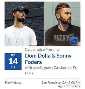 Dom Dolla Ticket! for Sale in San Francisco, CA