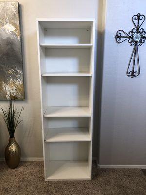 75.5 inch white bookcase white bookshelf with adjustable shelves for Sale in Gilbert, AZ