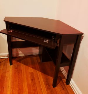 Fully Assembled 360° Swivel Chair and Triangular Corner Desk for Sale in The Bronx, NY