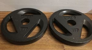Weights Olympic 2 inch set of 25lb plates for Sale in West Covina, CA