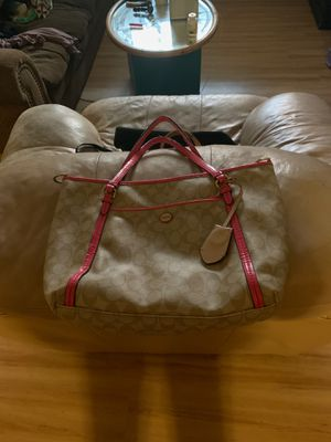 Pink and tan Coach purse for Sale in Littleton, CO