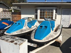 2 SeaDoo Jetski wave runner jetskis jet ski and zieman trailer for Sale in Vista, CA