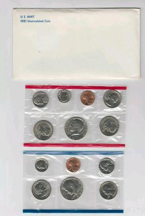 1981 P&D+S US Mint Uncirculated Coin Set for Sale, used for sale  Cliffside Park, NJ