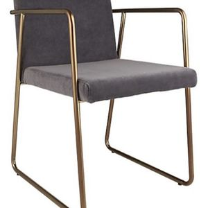 CB2 Rouka Gray/Brass Dining Or Accent Chairs (set of 2) for Sale in Los Angeles, CA