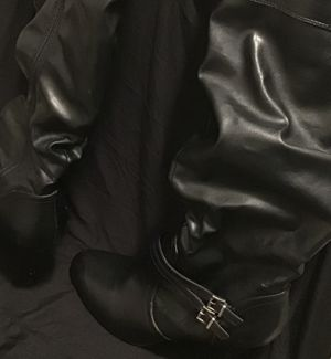 Sassy Black Leather Boots Size 10 for Sale in MD, US
