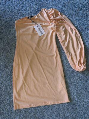 Missguided Peach One Balloon Sleeve Mini Dress Size 6 US for Sale in Alexandria, VA